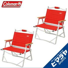 コールマン Coleman チェアコンパクトフォールディングチェア レッド 2個セット170-7670