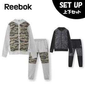 リーボック Reebok スポーツウェア上下セット メンズ ワンシリーズ Wハイブリッドスウェット フルジップパーカー + パンツ FLU95 + FLU94