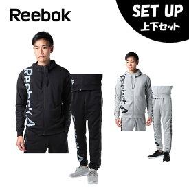 リーボック Reebok スポーツウェア上下セット メンズ ワンシリーズ テープロゴスウェット フルジップパーカー + テープロゴ FLU96 + FLU97