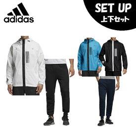 アディダス スポーツウェア上下セット メンズ WND ジャケット + WND パンツ FXY09 + FXY43 adidas