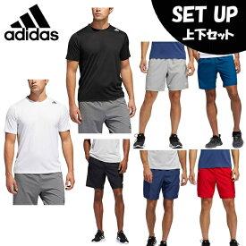 【エントリーで5倍 8/10〜8/11まで】 アディダス 半袖Tシャツ ハーフパンツ セット メンズ 4Tフリーリフトクライマライト3ストライプスTシャツ+ショーツ FVY93+FSK71 adidas