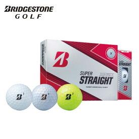 ブリヂストンゴルフ BRIDGESTONE GOLF ゴルフボール 1ダース 12個入 スーパーストレート SUPER STRAIGHT