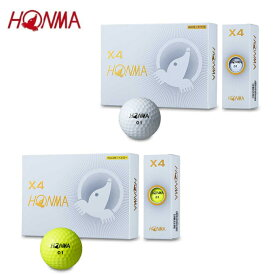 本間ゴルフ HONMA ゴルフボール 1ダース 12個入 HONMA ホンマ X4ボール BTQ1906