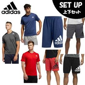 アディダス 半袖Tシャツ ハーフパンツ セット メンズ M4T プライムライトTシャツ+M4Tクライマライトビッグロゴショーツ FSK57+FSK65 adidas