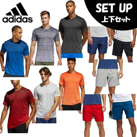アディダス 半袖Tシャツ ハーフパンツ セット メンズ テック グラデーション Tシャツ TECH GRADIENT TEE+ショーツ GLC04+FSK71 adidas