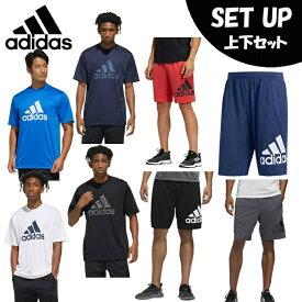 アディダス 半袖Tシャツ ハーフパンツ セット メンズ MH BOS Graphic Tシャツ+M4Tクライマライトビッグロゴショーツ GUN24+FSK65 adidas