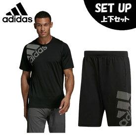 アディダス 半袖Tシャツ ハーフパンツ セット メンズ FreeLift グラフィック 半袖Tシャツ+ショーツ DU0902 FSF86+DU0934 FSF90 adidas
