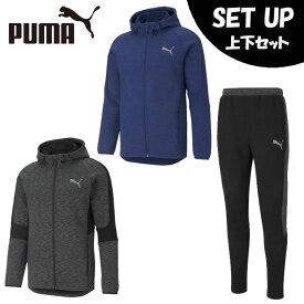 プーマ スポーツウェア スウェット 上下セット メンズ EVOSTRIPE フーデッドジャケット+EVOSTRIPE パンツ 588659+588664 PUMA