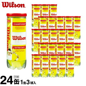 ウイルソン 硬式テニスボール チャンピオンシップ・エクストラ・デューティー WRT100101 【24缶セット】 Wilson
