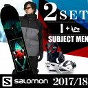 スノーボード 2点セット メンズ サロモン salomon SUBJECT MEN+RHYTHM ボード+ビンディング