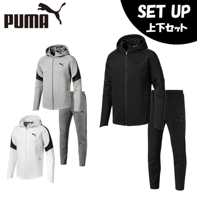 プーマ スポーツウェア上下セット メンズ EVOSTRIPEスウェット 851915 + 851918 PUMA