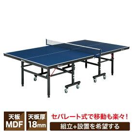 【送料無料】 卓球台 国際規格サイズ セパレート式18mm 組立有 VQ530509I01 ビジョンクエスト VISION QUEST