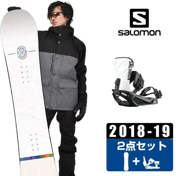 サロモン salomon スノーボード 2点セット メンズ FRONTIER + RHYTHM BK/WHT ボード+ビンディング