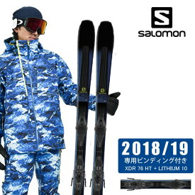 サロモン salomon スキー板セット 金具付 メンズ XDR 76 HT + LITHIUM 10 エックスディーアール