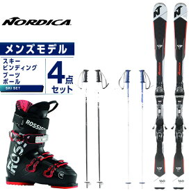 ノルディカ NORDICA スキー板 4点セット メンズ スキー板+ビンディング+ブーツ+ストック GT74R FDT +TP2 10FDT +EVO 70 +SLALOM