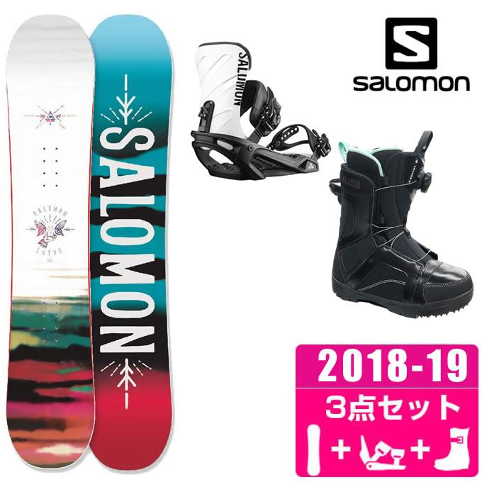 サロモン スノーボード 3点セット レディース LOTUS + RHYTHM + ANCHOR BOA ボード+ビンディング+ブーツ salomon