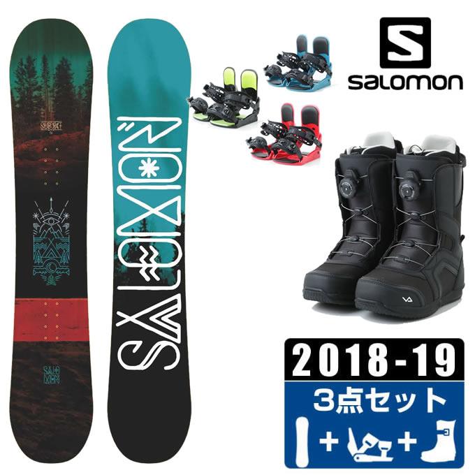 サロモン スノーボード 3点セット メンズ -SUBJECT MEN + KONNECT +SUPERB ボード+ビンディング+ブーツ salomon