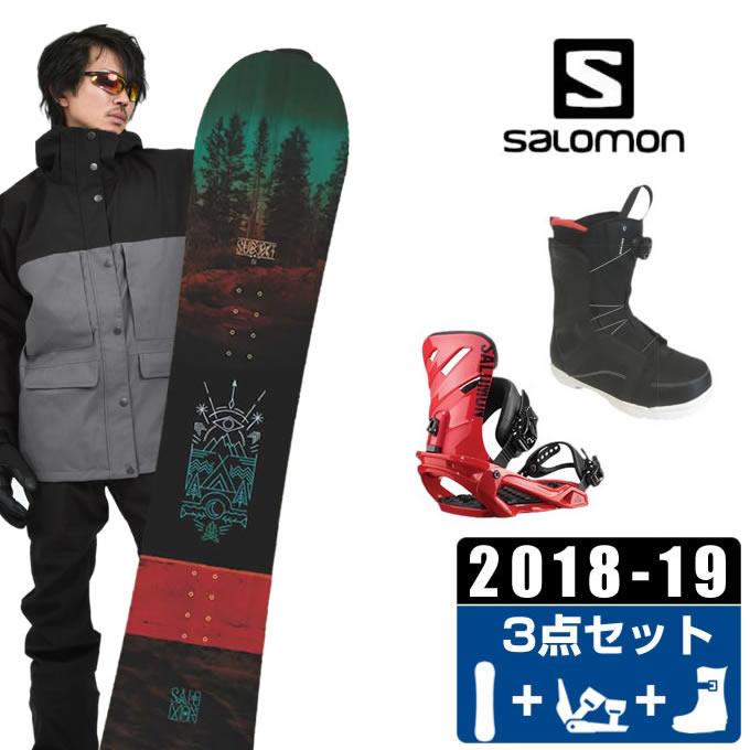 サロモン salomon スノーボード 3点セット メンズ SUBJECT MEN + RHYTHM + ANCHOR BOA ボード+ビンディング+ブーツ