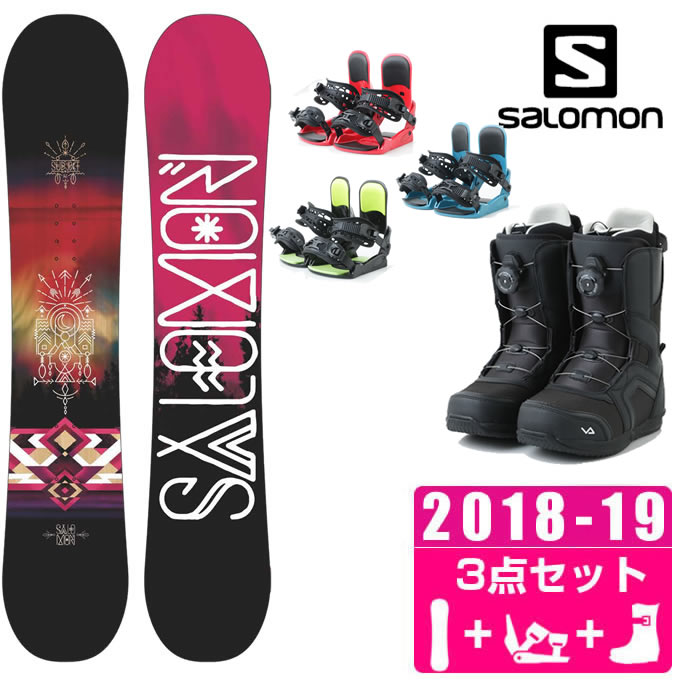 サロモン スノーボード 3点セット レディース SUBJECT WOMEN + KONNECT + SUPERB ボード+ビンディング+ブーツ salomon