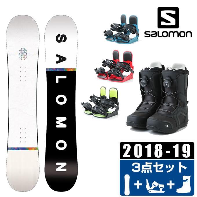 サロモン スノーボード 3点セット メンズ FRONTIER + KONNECT + SUPERB ボード+ビンディング+ブーツ salomon