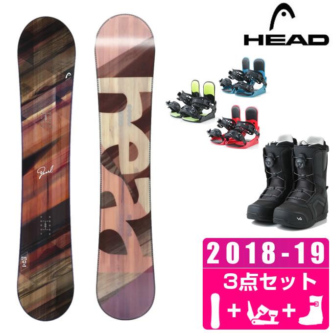 ヘッド HEAD スノーボード 3点セット レディース PEARL + KONNECT + SUPERB ボード+ビンディング+ブーツ