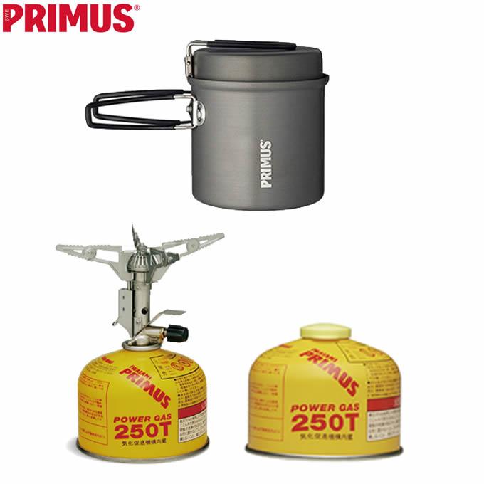 プリムス PRIMUS シングルバーナー 調理器具 ガスカートリッジ ウルトラバーナー+ライテックトレックケトル&パン+ハイパワーガス P-153+731722+IP-250T