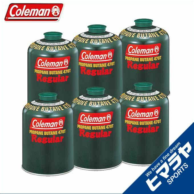 コールマン ガスカートリッジ 純正LPガス燃料[Tタイプ]470g 6個 5103A470T coleman