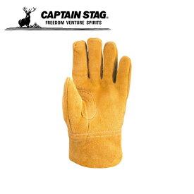 キャプテンスタッグ CAPTAIN STAG レザーグローブ アウトドア ソフトレザーグローブ L UM-1912 od