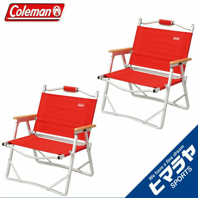 コールマン Coleman チェアコンパクトフォールディングチェア レッド 2個セット170-7670 od