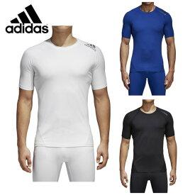 アディダス adidas アンダーシャツ 半袖 メンズ アルファスキン TEAM ショートスリーブTシャツ EBR77 コンプレッション アンダーウェア ベースレイヤー サッカー 丸首 sw