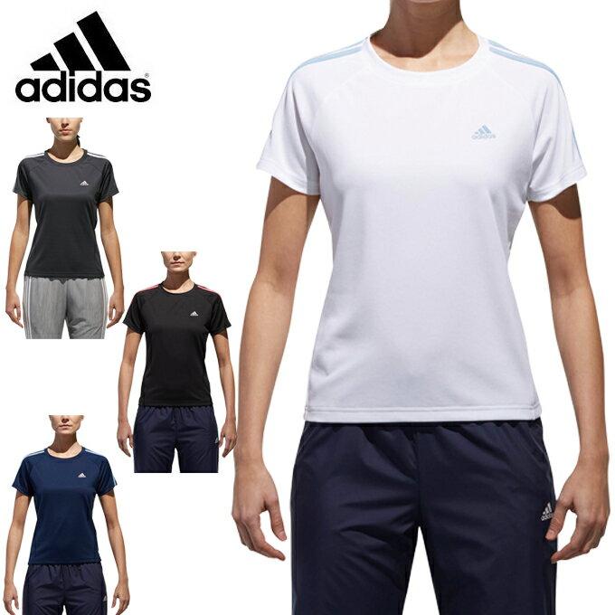 【セール品】アディダス Tシャツ 半袖 レディース D2Mトレーニング定番3ストライプ半袖Tシャツ EUD16 adidas sw