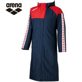 アリーナ スポーツウェア メンズ レディース ARENA ベンチコート ロングコート ARN-6330 ARENA sw