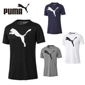 プーマ Tシャツ メンズ 半袖 ACTIVE ビッグロゴ SS Tシャツ 851703 PUMA 吸汗速乾 ドライ スポーツウェア トレーニング ジム sw