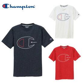 チャンピオン Champion Tシャツ メンズ 半袖 機能ビッグロゴ Tシャツ C3-PS325 吸汗速乾 ドライ スポーツウェア トレーニング ジム カジュアル sw