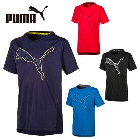 プーマ Tシャツ 半袖 ジュニア キッズ 男の子 ボーイズ ACTIVE ビッグロゴ 半袖T 843965 PUMA sw