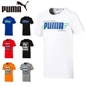 プーマ Tシャツ 半袖 ジュニア キッズ 男の子 ボーイズ ALPHA グラフィック 半袖T 843945 PUMA sw