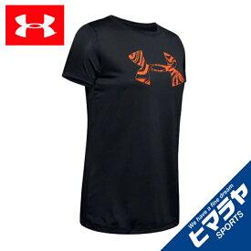 アンダーアーマー Tシャツ 半袖 レディース UAテック ショートスリーブ クルー グラフィック 1344546 001 UNDER ARMOUR sw