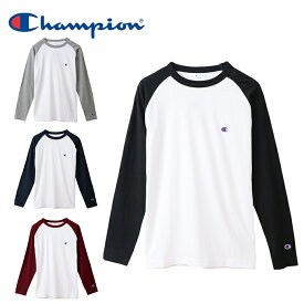 チャンピオン Champion Tシャツ 長袖 メンズ ラグランロングスリーブTシャツ ベーシック C3-P402 sw
