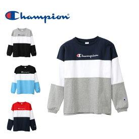 チャンピオン Champion Tシャツ 長袖 メンズ カラーブロック C3-Q440 sw