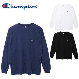 チャンピオン Champion Tシャツ 長袖 メンズ コットンライクワンポイント長袖Tシャツ CM4HHQ201 sw