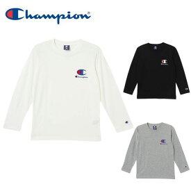 チャンピオン ウェア 長袖Tシャツ ロンT 吸汗 速乾 キッズ ジュニア ワンポイント ボーイズ 男の子 通学 CX7260 Champion sw