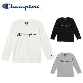 チャンピオン ウェア 長袖Tシャツ ロンT 吸汗 速乾 キッズ ジュニア ボーイズ 男の子 通学 CX7262 Champion sw