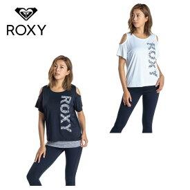 ロキシー ROXY Tシャツ 半袖 レディース 速乾 UVカットTシャツ& カップ付きタンクセット BUBBLE SET TEE RST201529 ノースリーブ sw