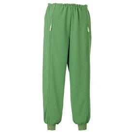 エンゼル 5111スクエアニット裾リブ付き全開ズボン[5111] サイズS/M/L【介護用パジャマ】【介護用衣料】【ケアねまき】【生活応援着】