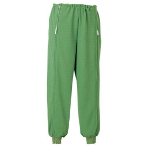 エンゼル 5111スクエアニット裾リブ付き全開ズボン サイズS/M/L【介護用パジャマ】【介護用衣料】【ケアねまき】【生活応援着】