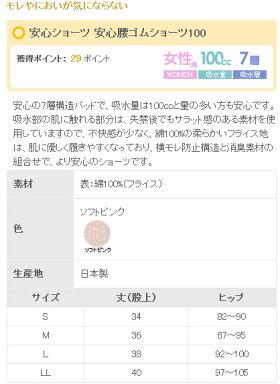 ニシキ安心腰ゴムショーツ100サイズ(S〜LLサイズ)