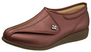 アサヒコーポレーション 快歩主義 L011 ワインスムース両足 (サイズ:21.5 〜 25.0 cm)[介護用シューズ][靴 くつ]【介護シューズ】 国産 女性用 婦人用 レディース