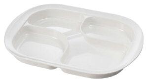 メラミン仕切り皿 [カラー:ホワイト]お椀・お皿・プレート(食事用品・生活支援・介護予防用品)[フォーライフメディカル]