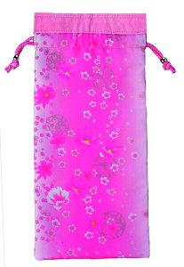 ささえ京友禅 「桜吹雪」収納袋 (四つ折杖用:V84型)【敬老の日】
