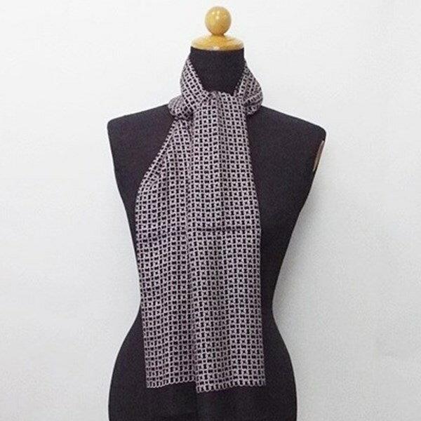 レノマ シルク 長方形スカーフ ブラック 未使用 中古 Sランク RENOMA レディース メンズ 美品【メール便送料無料】